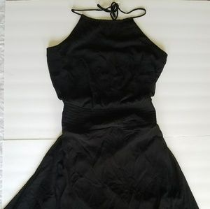 Black Chiffon Halter Asymmetrical Party Dress NWT